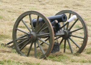 Pecos National Historical Park - Civil War trail - Civil War 12 pounder howitzer