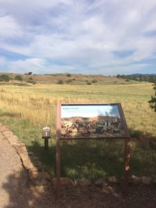 Pecos mission trail marker 1 - City sightly and strong