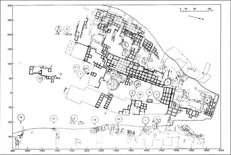 AV Kidder Pueblo map