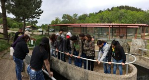 Pecos school kids at Lisboa Fish Hatchery