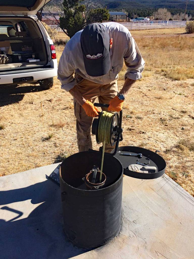 Pecos National Historical Park Trading post well logger installation